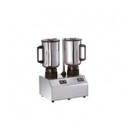 Frullatore in acciaio inox con 2 bicchiere inox capacità 3+3 lt