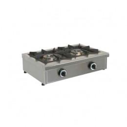 Fornelloni a gas in acciaio inox 680x490x210h mm