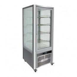 Vetrina Pasticceria  in acciaio inox 4 lati refrigerazione ventilata su 4 ripiani