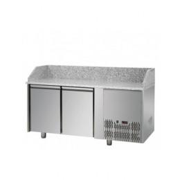 Tavolo Refrigerato Pizza GN 1/1 con 2 porte e piano in granito