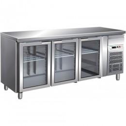 Tavolo refrigerato gastronomia GN1/1 ventilato motore incorporato 1795x700x850 mm