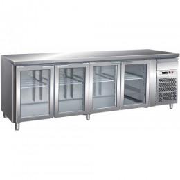 Tavolo refrigerato gastronomia GN1/1 ventilato alzatina motore incorporato 2230x700x850/950 mm