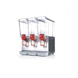 Erogatore da banco per bevande 3 contenitori capacità 20 lt con agitatore